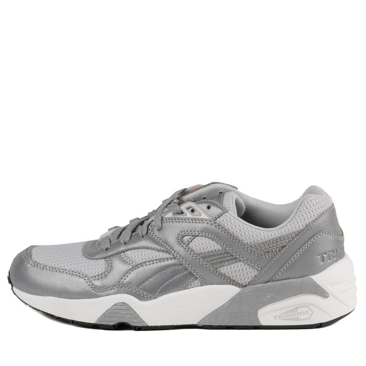 Puma R698 Reflective Metallic Grey Men Sz 7.5 - 10
