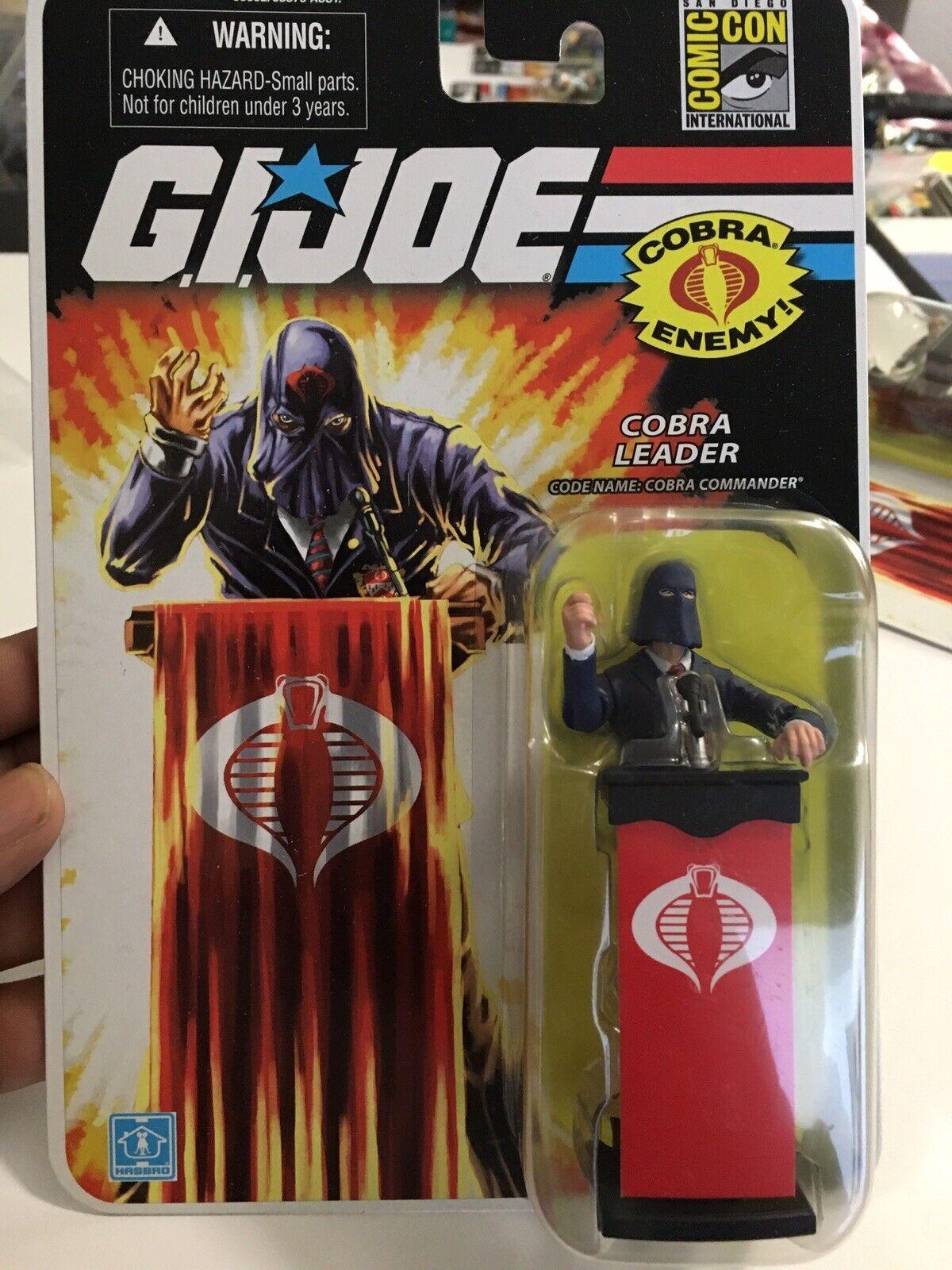 GI Joe 2008 SAN DIEGO comic-con Exclusive Cobra Commander Costume Bleu Comme neuf on Card Rare LIVRAISON GRATUITE