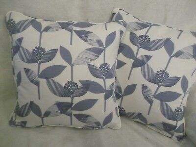 """FINLAY  BY JOHN LEWIS 1 PAIR OF 18/"""" CUSHION COVERS DOUBLE SIDED ZIP OFF COVER"""