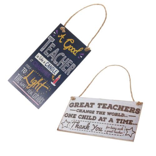 Lot 2 sweet en bois suspendus peste Teacher/'s Day Hanging Wall Signe Decor Cadeau