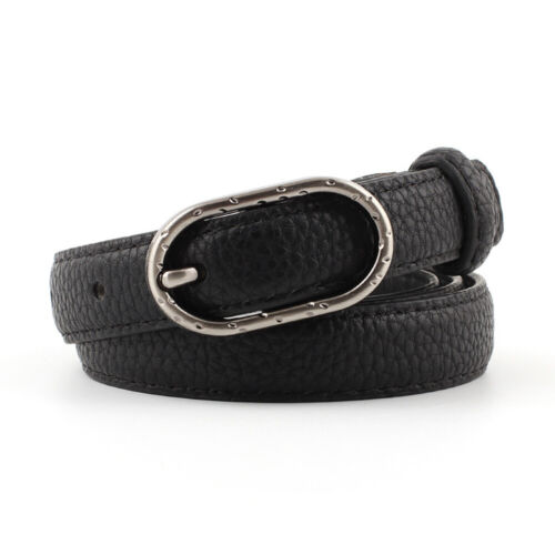 Women/'s Thin Waistband Classic Oval Buckle Belts Dress Jeans Belt New Stylish