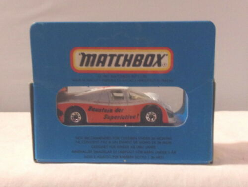 1981 ROW 1-75 MJ7 Matchbox Bisotherm White /& Orange MB46 Sauber Group C