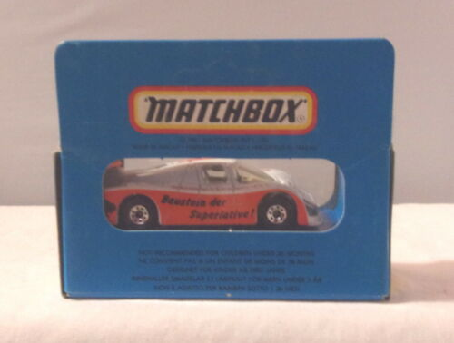 MJ7 Matchbox Bisotherm 1981 ROW 1-75 White /& Orange MB46 Sauber Group C
