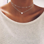 Women-Jewelry-GF-Pendant-925-Silver-Gold-Heart-Choker-Chunky-Chain-Bib-Necklace thumbnail 1