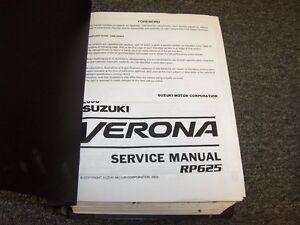 2006 suzuki verona sedan workshop shop service repair manual book rh ebay com 2004 suzuki verona owners manual pdf suzuki verona owner's manual