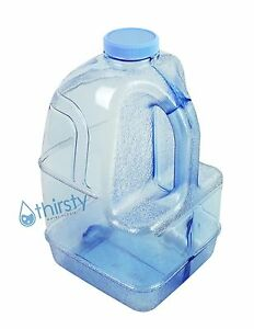 Gray BPA Free 1 Gallon Water Bottle Dispenser Faucet Reusable Container Jug New
