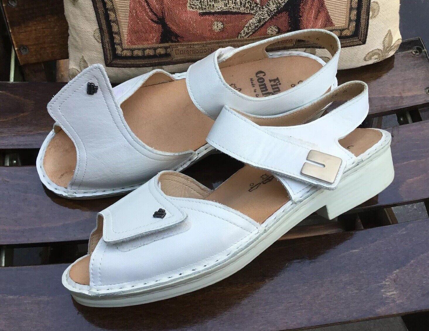 Finn Comfort 6 C(40) Damen Schuhe Leder Weiß NEUWERTIG