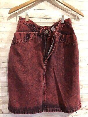 Medium Size Skirt Vintage Brown Velvet Skirt 80s Velvet Skirt High Waist Skirt Ruffled Brown Skirt Knee Lengh Skirt