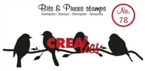 """Stempel /""""Bits /& Pieces 78/"""" Crealies Vögel auf einem Ast"""