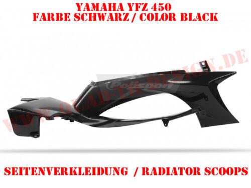 POLISPORT rivestimento laterale in nero per Yamaha YFZ 450 2004-2014 merce in magazzino