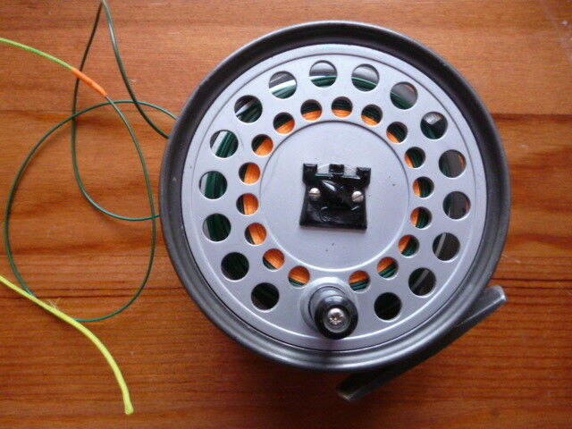 HARDY VISCOUNT 150 FLY REEL +  FLY LINE.... WET CEL 1 WF9S