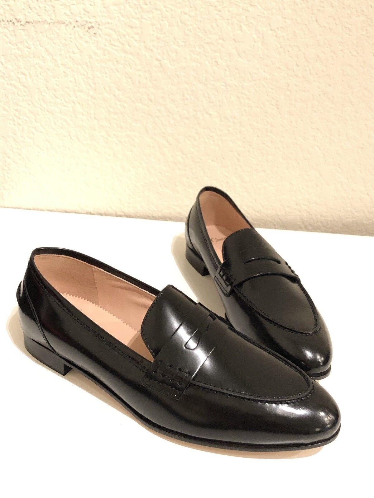 JCrew donna Academy  Penny Leather Lofers Dress scarpe nero 7.5 J8501  distribuzione globale