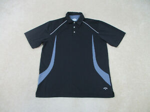 Callaway Polo Shirt Adult Large Black Gray Golf Golfer Golfing Rugby Mens B35