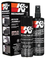 99-5000 K&N Air Intake Cleaner Recharger Kit With Spray Oil   FREE SHIPPING