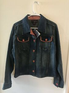 Medium Kvinder Denim Juniors Nwt Udsmykning Moderne Jacket Størrelse Jean Pqaqw0B