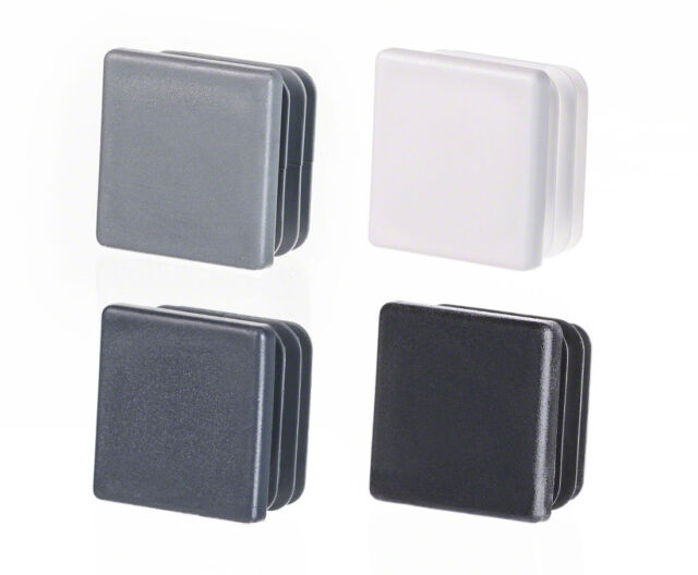 Quadratstopfen 10 St/ück 10x10 mm Wei/ß Kunststoff Lamellenstopfen Abdeckkappe