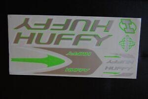 Green /& White. Huffy 4130 Stickers Black