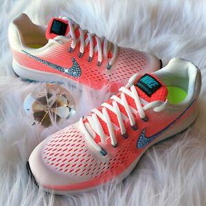 ebfedb1b434cb Details about Bling Nike Air Zoom Pegasus 34 Women /Girls Shoes w/  Swarovski Crystal Pink Blue