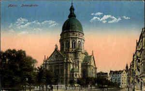Feldpostkarte-Mainz-Christus-Kirche-1916-nach-Polenz-Neustadt-Sachsen-gelaufen