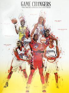 Basketball-Poster-Black-Women-WNBA-Sports-History-Print-African-American-18x24