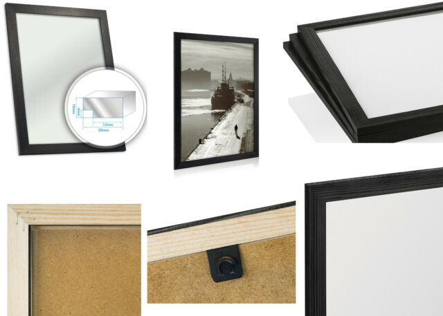 Black Wooden Picture Photo Frame 40x60 Cm Approximately 16 X 24 Inch ...