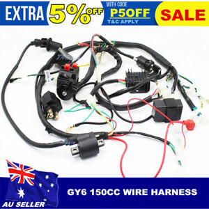 image is loading chinese-gy6-150cc-atv-quad-wire-harness-wiring-