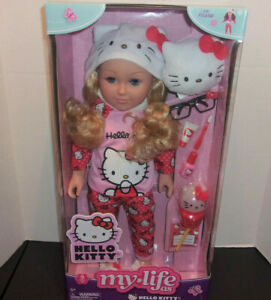"""My Life As HELLO KITTY 18/"""" PoseableDoll w// Blonde Hair"""