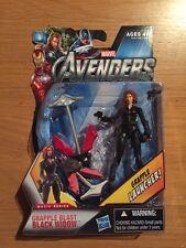 2011 Marvel Avengers Grapple Blast Black Widow Action Figure, MOC Sealed