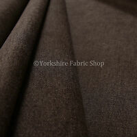 10 Metres Quality Highland Wool Effect  Chenille Curtain Upholstery Brown Fabric
