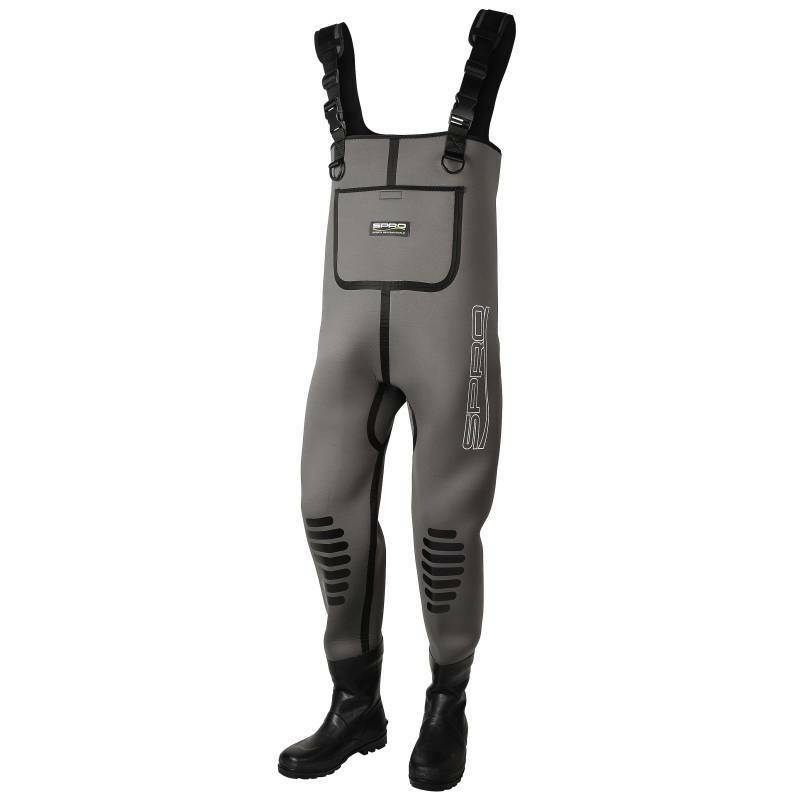 SPRO 5mm Neoprene Chest Wader Rubber Stiefel Gr. 41 Wathose by TACKLE-DEALS