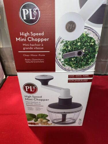 Mini High Speed Food Chopper Slicer Chop Purée Mix Stainless Steel Blade 2 Cup C