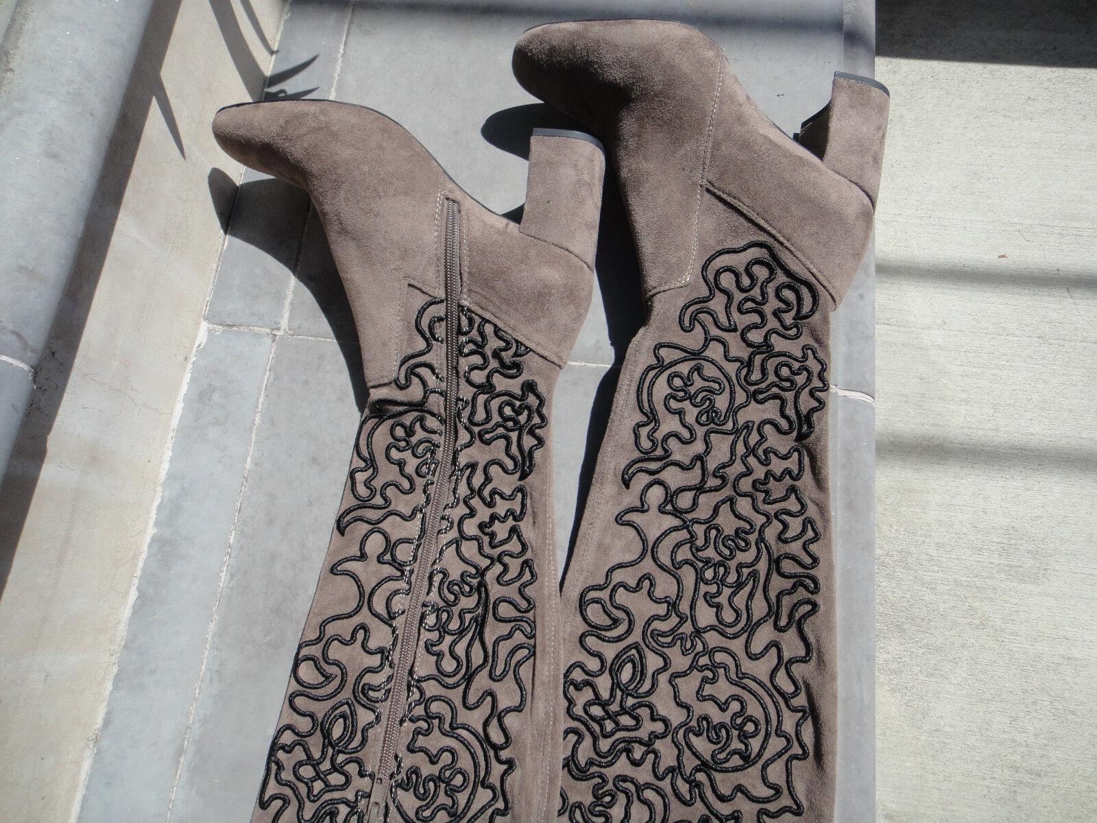 Jeffrey Campbell Cienega Negro Negro Negro gris Gamuza OTK bota, Wmns's Talla 6.5M o 7.5M  Seleccione de las marcas más nuevas como