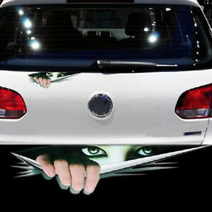 Reflective Peek Car Stickers Auto Decals Universal Car Cover Body Sticker