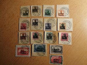 Altdeutschland-Bayern-1919-MiNr-136-151-Marken-Deutsches-Reich-mit-Aufdruck