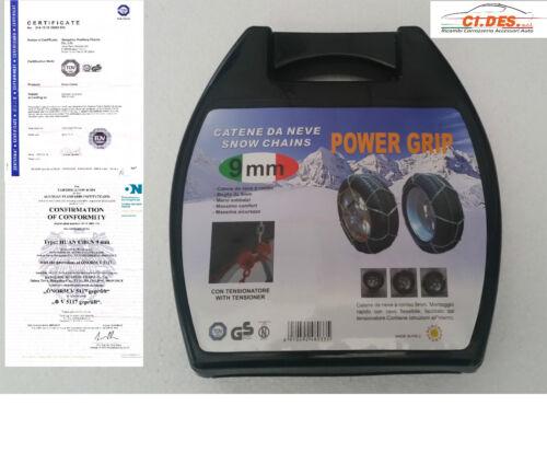 POWERGRIP CATENE DA NEVE OMOLOGATE 9mm  AUDI A4 PNEUMATICO 205 60 R 16 GR 9,5