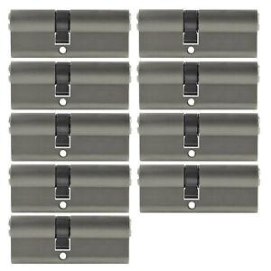 9x-Profilzylinder-70mm-30-40-45-Schluessel-Tuer-Zylinder-Schloss-gleichschliessend