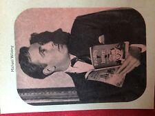 m2v ephemera 1950s film picture michael wilding  reading