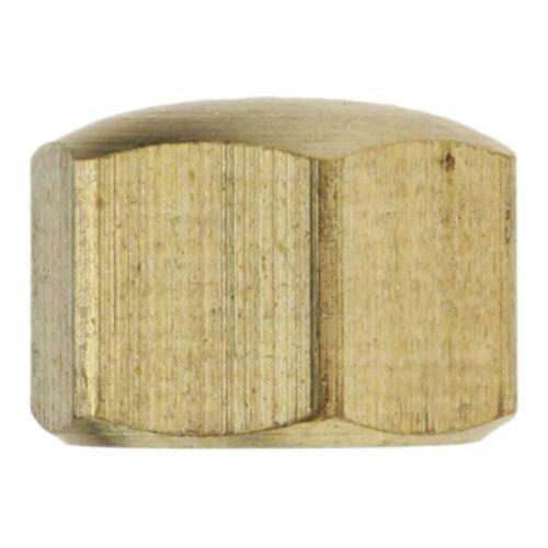 10x DIN 917 Sechskant-Hutmutter Messing blank M 10 niedr Form