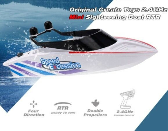 Remote Control FMT Speed RC Boat 2.4GHz 4-Channel Electric Powered Racing Boat