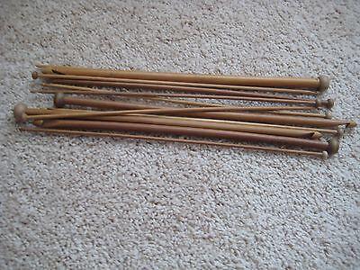 "14 Sz 13/"" Patina Afghan  crochet hooks Tunisian bamboo US2-17//C-P 3-12 mm"