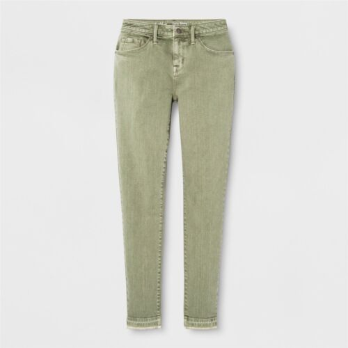 Mossimo Women/'s Green Mid-Rise Curvy Power Stretch Skinny Jeans 12 Short NWT
