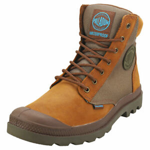 Palladium Pampa Sport Cuff Wpn Unisex Brown Suede & Textile Casual Boots