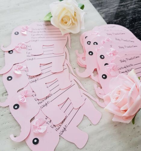 Pack 20 Elephant Baby Shower Prediction Cards ~ Girl or Boy