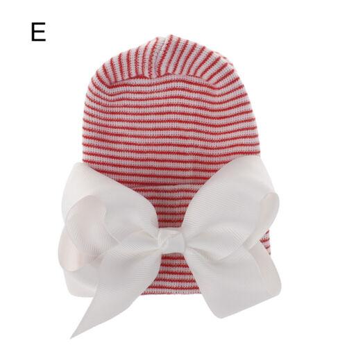 Baby Girl Bow Hat Newborn Hospital Hat Infant Turban Soft Nursery Beanie Hat New