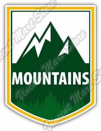"""/'/'SIZES/"""" Camping Travel Label Car Bumper Sticker Decal"""