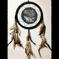 10 3d Lenticular Wolf Wolves Howl Dream Catcher Wall Hang Decor Feathers Gift