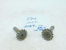 Used 2pcs Straight Tooth Woodruff Keyseat Cutters 1 12 Shank 12