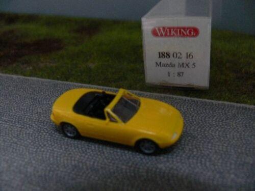 1//87 Wiking Mazda MX 5 cabriolet amarillo 188 02