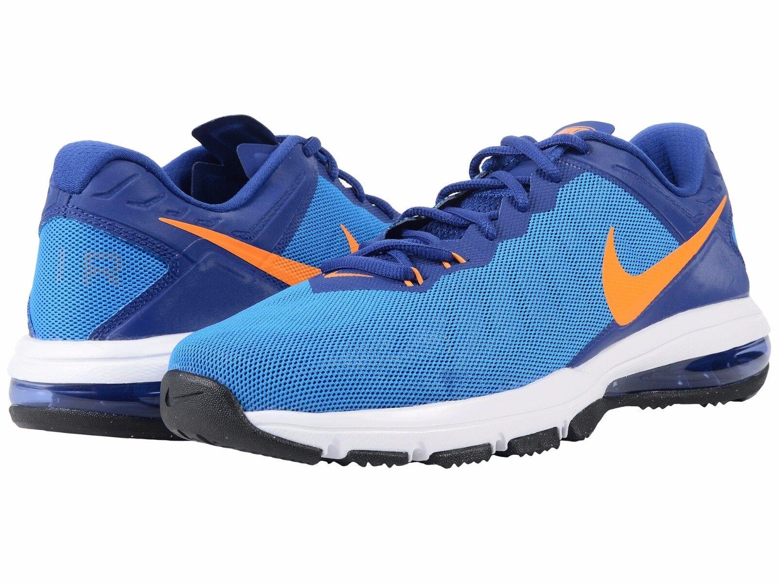 Nike air max uomini totale scarpe blu / vivido arancione uomo numero 13