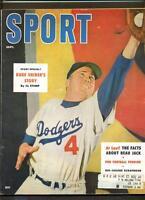 SPORT MAGAZINE SEPT 1955 DUKE SNIDER BROOKLN DODGERS COVER & COLOR INSIDE VG+